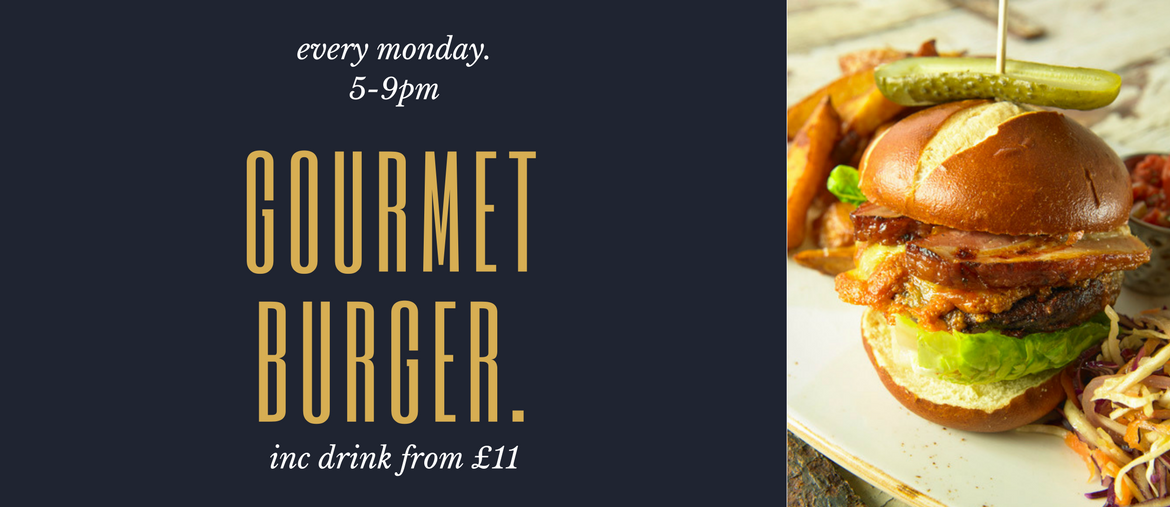 burger night every monday banner