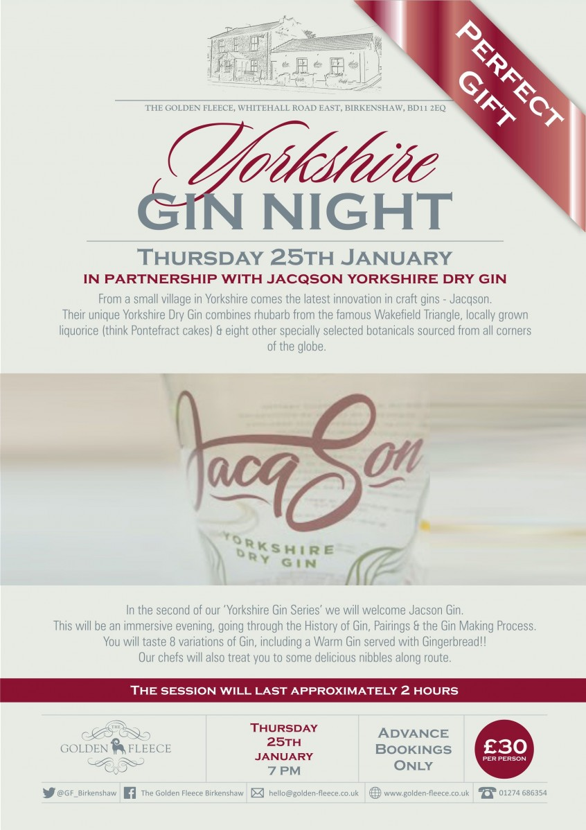 jacqson gin night jan2018