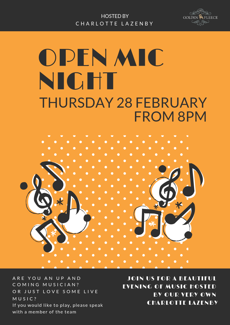 OPEN MIC NIGHT - A4 POSTER