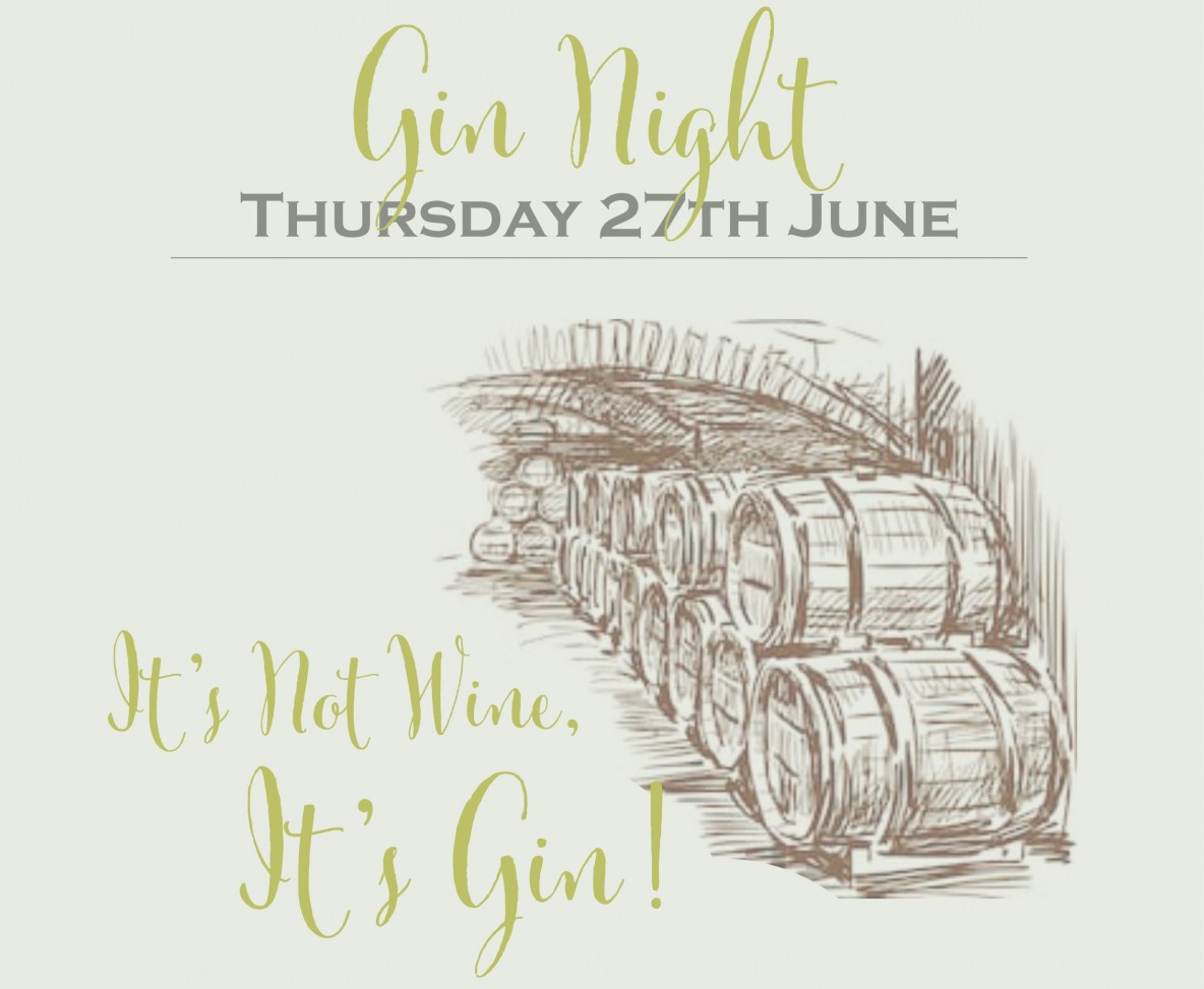 Gin Night Poster 2 June 2019 banner