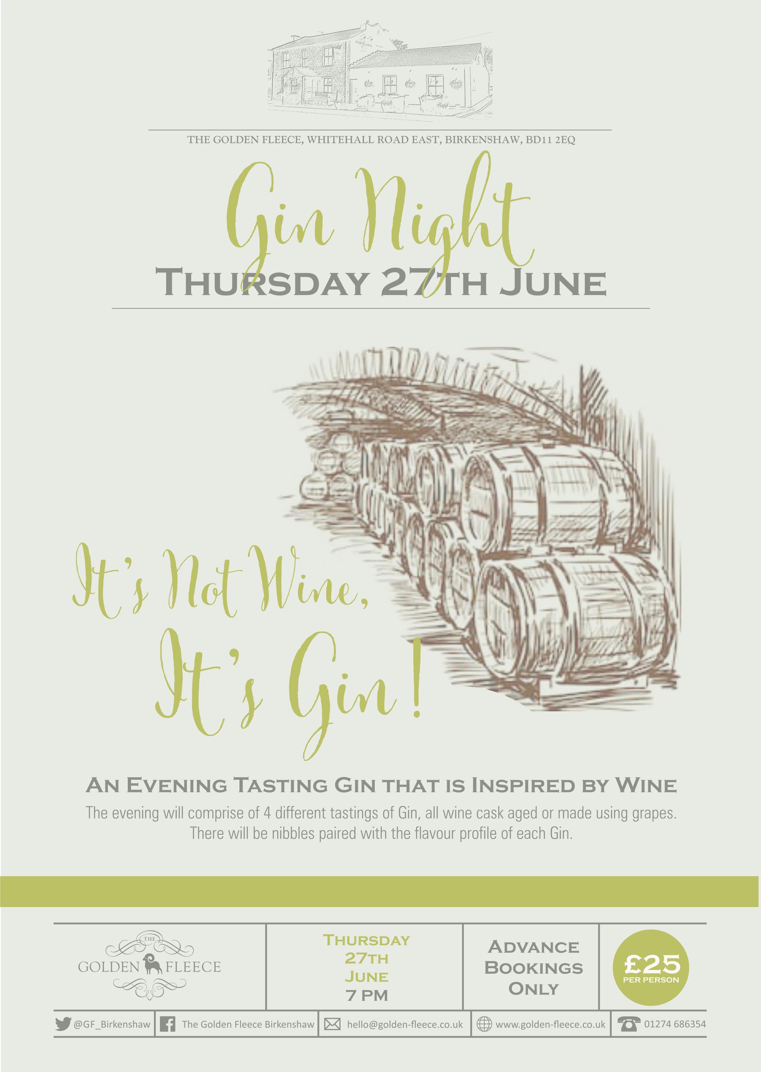 Gin Night Poster 2 June 2019