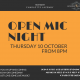 OPEN MIC NIGHT OCT 2019 - FB