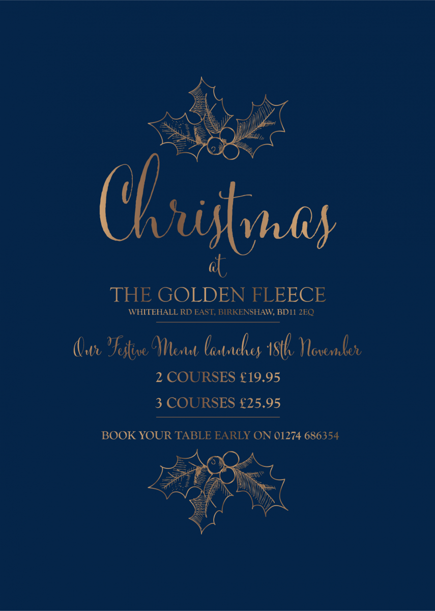 Festive Menu at The Golden Fleece