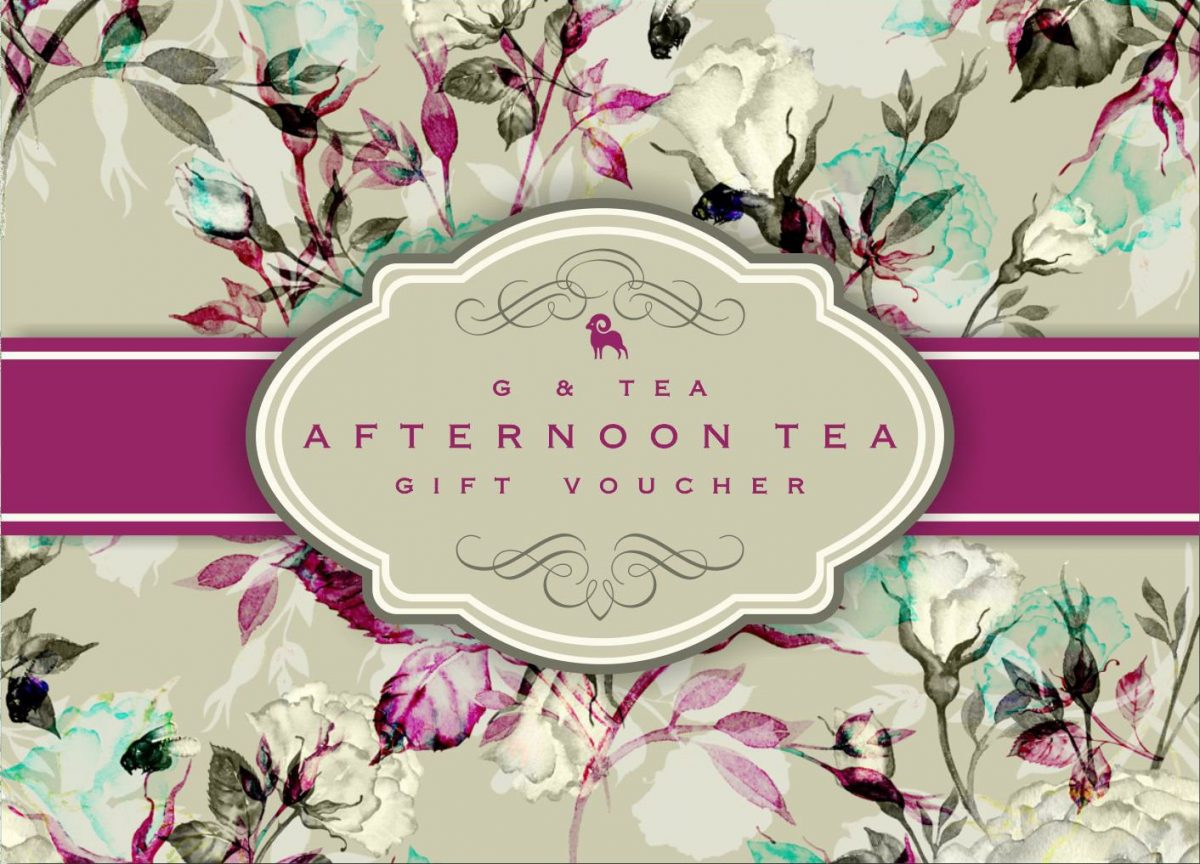 G & Tea Afternoon Tea Gift Vouchers