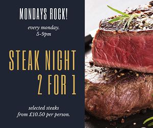 Steak night 2for1