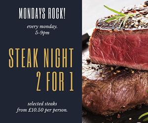 Steak night 2for1